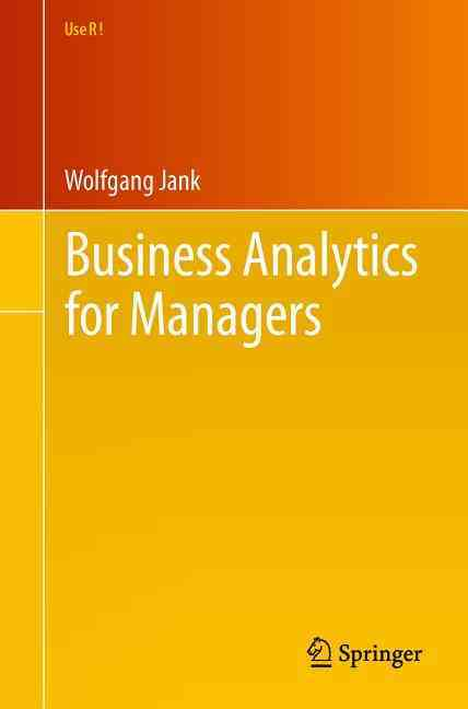 Business Analytics for Managers By Jank, Wolfgang
